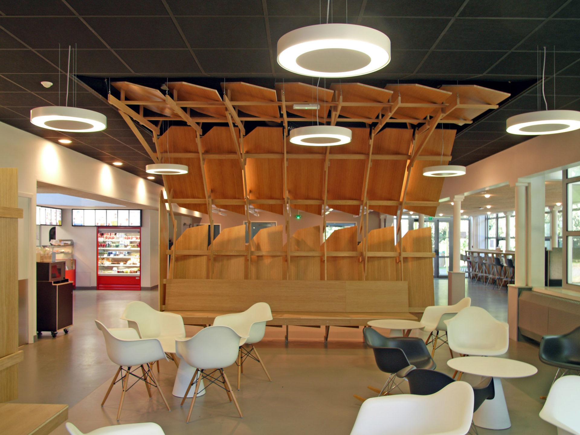 cr ation de mobiliers d agencements int rieurs pour le restaurant universitaire la lombarderie. Black Bedroom Furniture Sets. Home Design Ideas